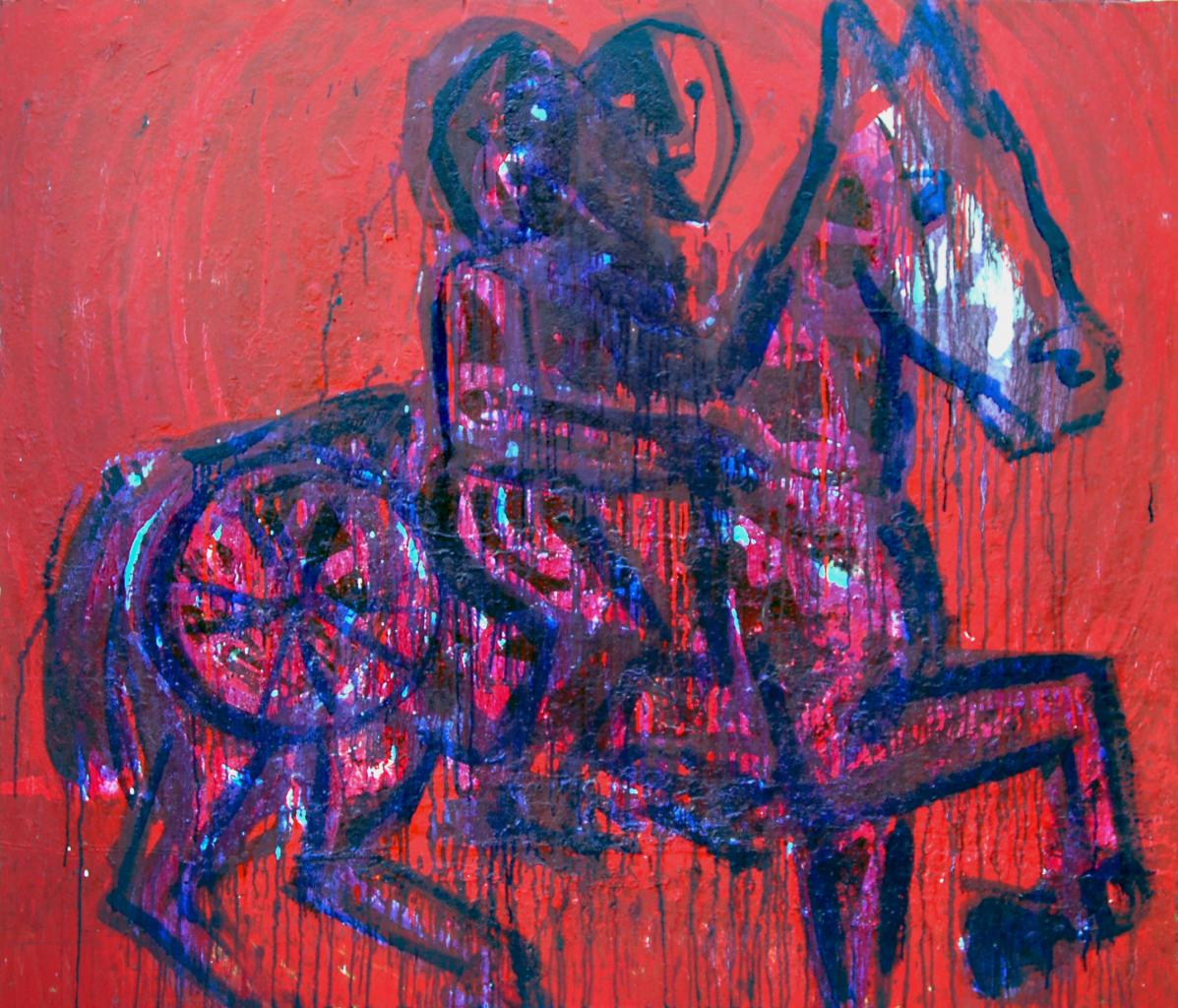 Janus bifrons the red one 125X108cm